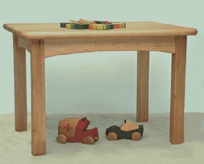 Kindertisch holz  Kinderkram 5520510 - Kindertisch Erle natur BABY & MEHR KINDERMÖBEL