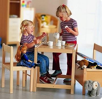Geuther kinderm bel set s stuhl tisch truhe baby for Kindermobel set